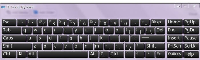 Onscreen keyboard computer tip