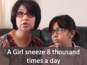A Girl sneeze 8 thousand times a day