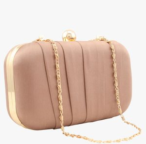 aranica peach silk clutch