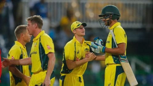Australia wins over Srilanka in first one day match by three wickets