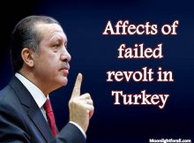 Affects of failed revolt in turkey