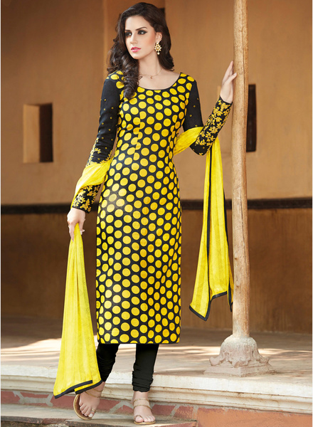 Floral creation yellow printed dress