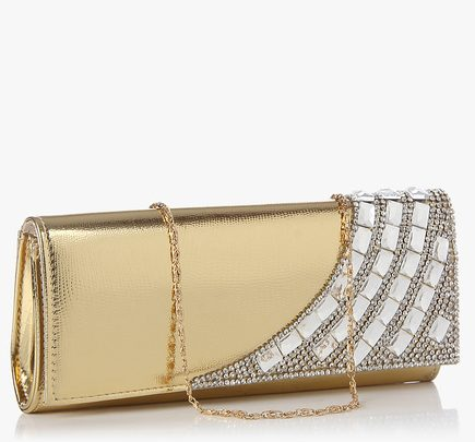 swiss design golden clutch