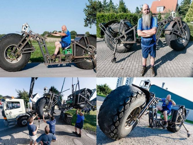 900 kilogram heavy world first cycle is ready to go