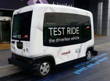 A test drive started in Dubai of minibus without driver