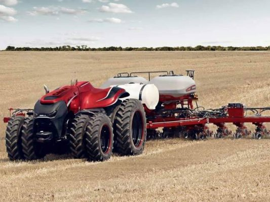 Self driving tractor ready to work without a farmer