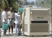 A machine ready to convert moisture of air to the drinking clean water