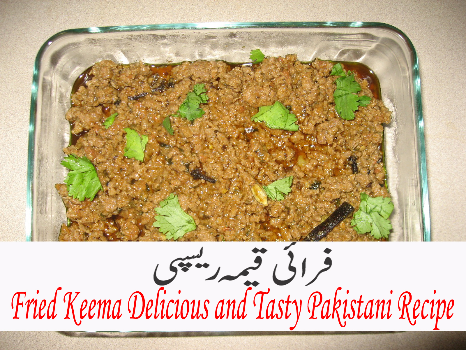 Fried Keema Delicious and Tasty Pakistani Recipe