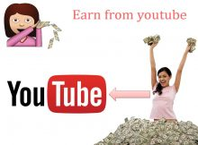 Earning money online from youtube