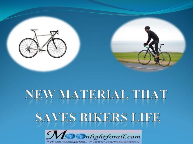 New material that saves bikers life info