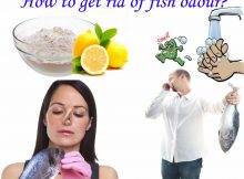 Remove fish odour from hands